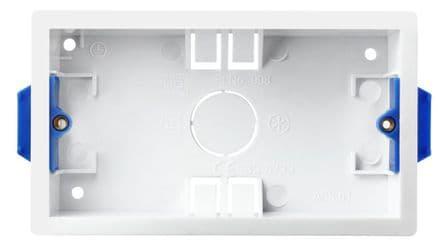 BG Rectangular Dry Lining Box - 2 Gang 35mm
